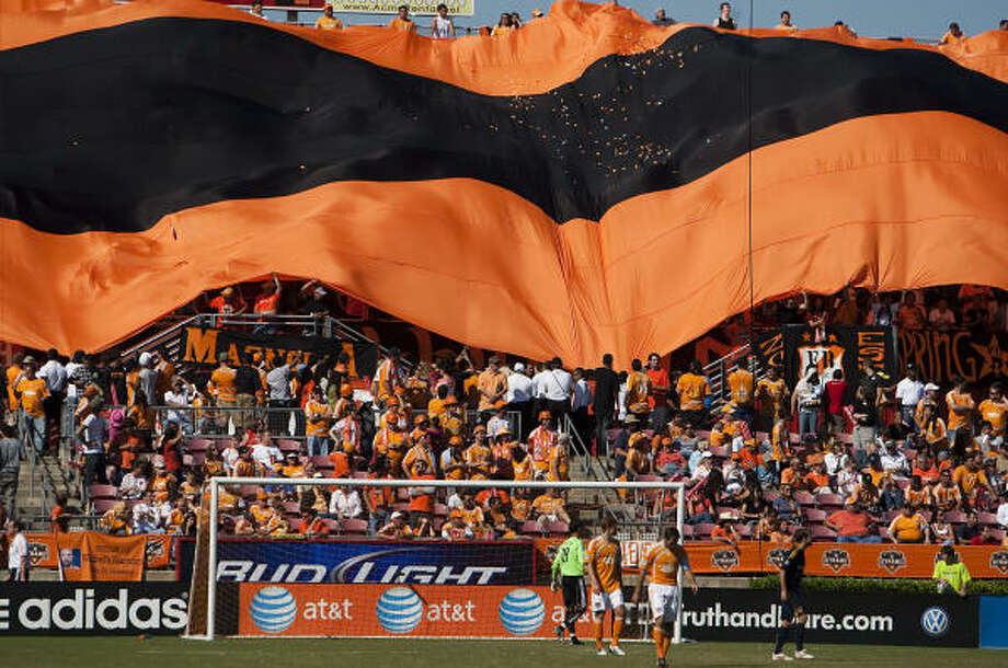 Houston Dynamo fans are among the most passionate in the city. Photo: Smiley N. Pool, Houston Chronicle