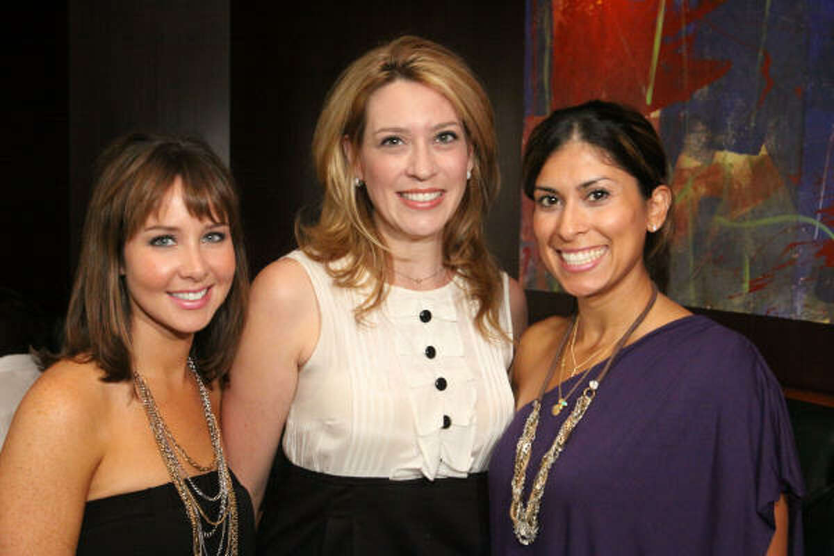 Allison Grover, Mauri Oliver and Selina Stanford at a kickoff celebration at Del Frisco's sponsored by Energy XXI for the Houston Ballet's 2010 Nutcracker Market.