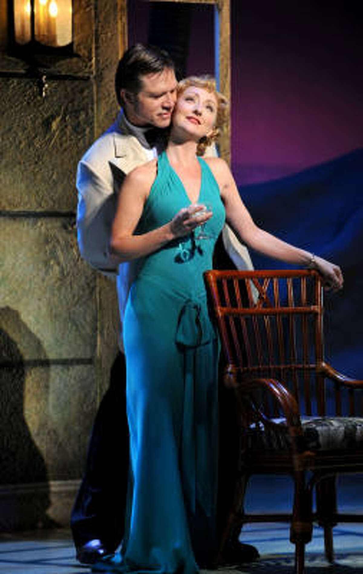 """Rod Gilfry's stars as Emile and Carmen Cusack stars as Nellie in """"South Pacific"""" at Hobby Center."""