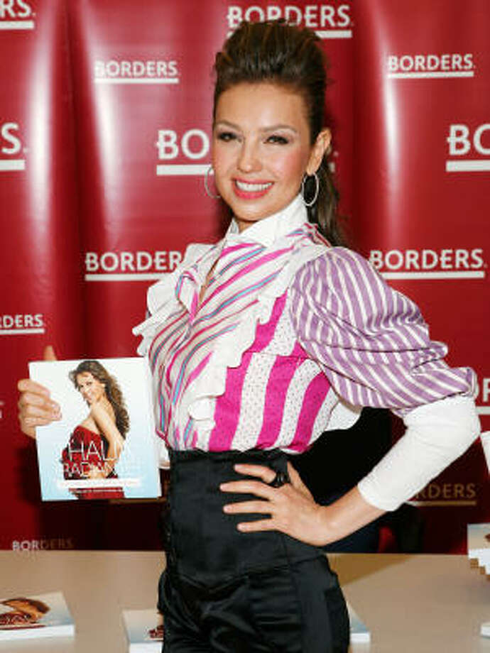 "Latina superstar Thalia, wrote a pregnancy advice book called: ""Radiante: The Ultimate Guide to a Fit and Fabulous Pregnancy"" . Photo: Amy Sussman, Getty Images"