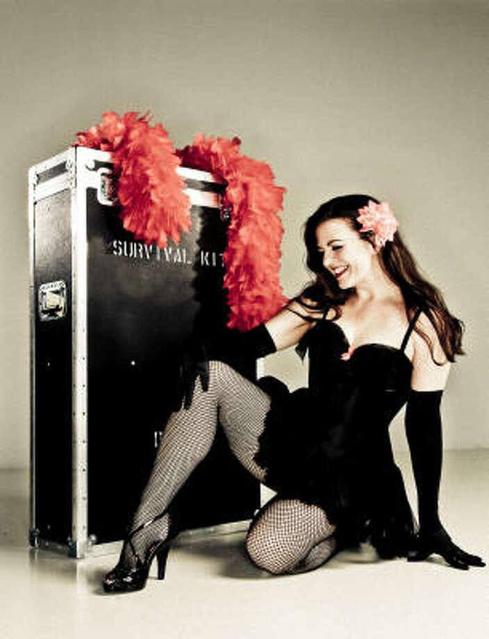 Rebecca Hadley, aka Grace Truvant, is a burlesque dancer and teacher of the fine art of the tease. Photo: Michael Paulsen, Chronicle