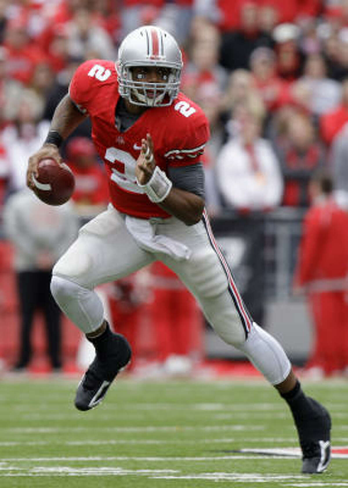 Terrelle Pryor, Ohio State He's been compared to Vince Young since high school, and he could be ready to start playing like the former Texas star.