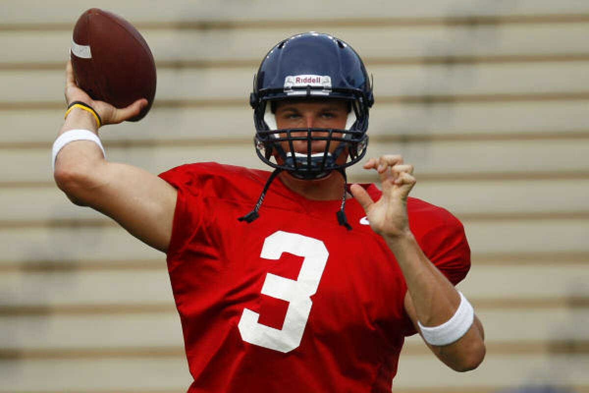 Rice sophomore Taylor Cook, a transfer from Miami (Fla.), is competing for the starting quarterback job.