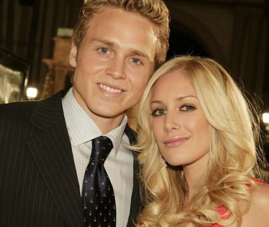 Spencer Pratt and Heidi Montag, were in the midst of a very public divorce when Pratt reportedly shopped a sex tape of the two. Photo: Kevin Winter, Getty Images