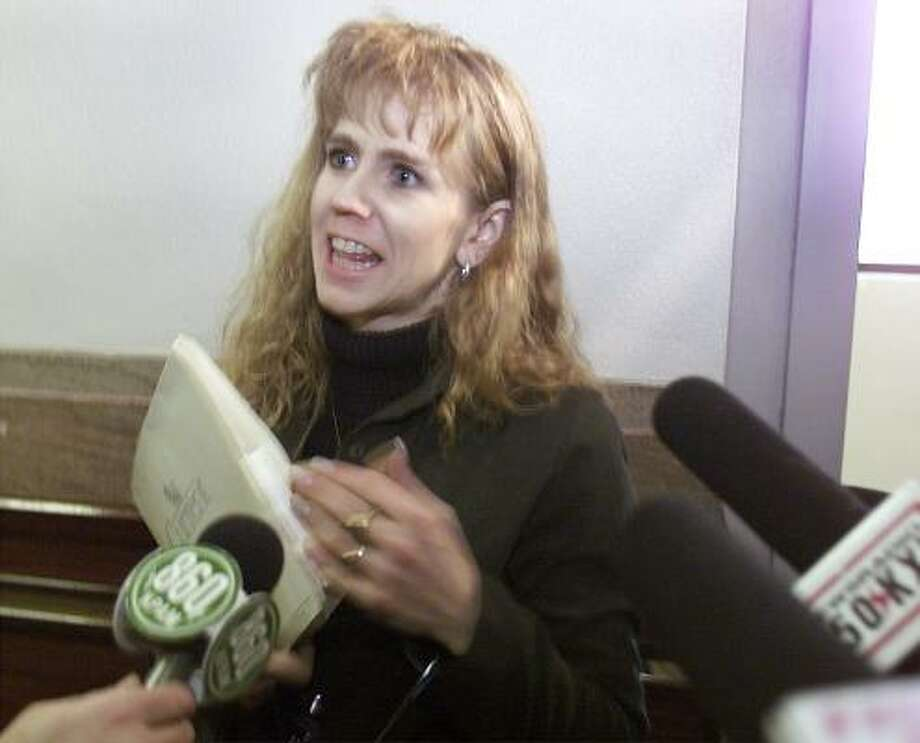 Already disgraced Tonya Harding and her husband's sex tape was so widely available, they decided to release it themselves. Photo: JEREMIAH COUGHLAN, AP