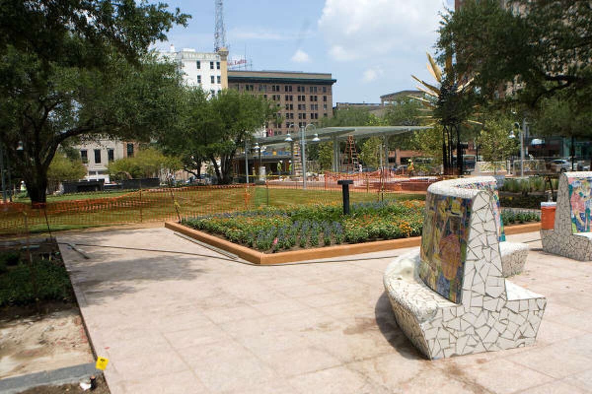 Work in Market Square continues in preparation for the Aug. 28 reopening shindig.