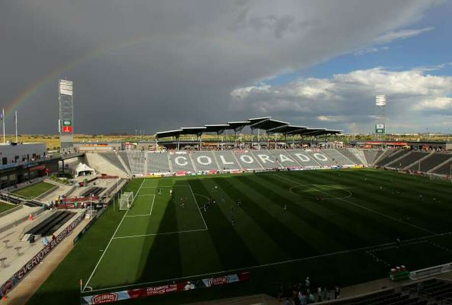 Commerce City, Colo., contains 17,527 homes, worth $3.9 billion. It's also where the Colorado Rapids of Major League Soccer play their home games. Photo: Doug Pensinger, Getty Images