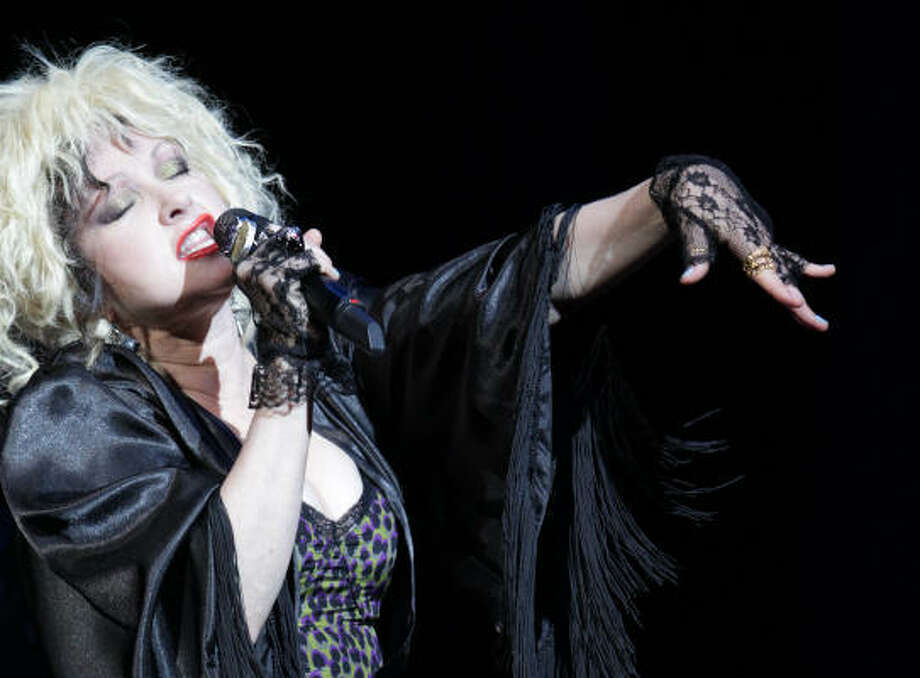 Now 47, Lauper is probably best known for her hits Girls Just Want To Have Fun and True Colors. Photo: Mayra Beltran, Chronicle