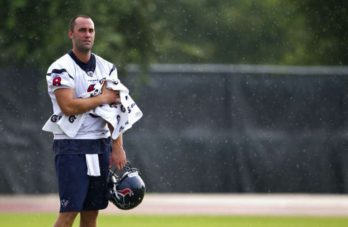 Texans quarterback Matt Schaub passed for 4,770 yards and 29 touchdowns and was named to the Pro Bowl last season.