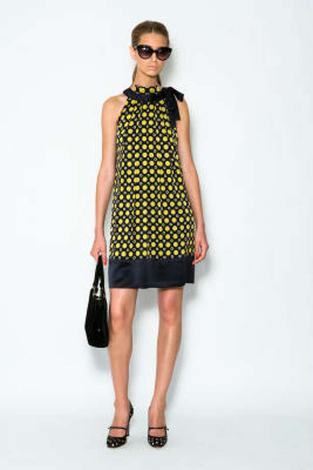 Jonquil Compass Dots print trapeze dress, $355, by Milly. Photo: Jaime Lopez JL Clark, Milly