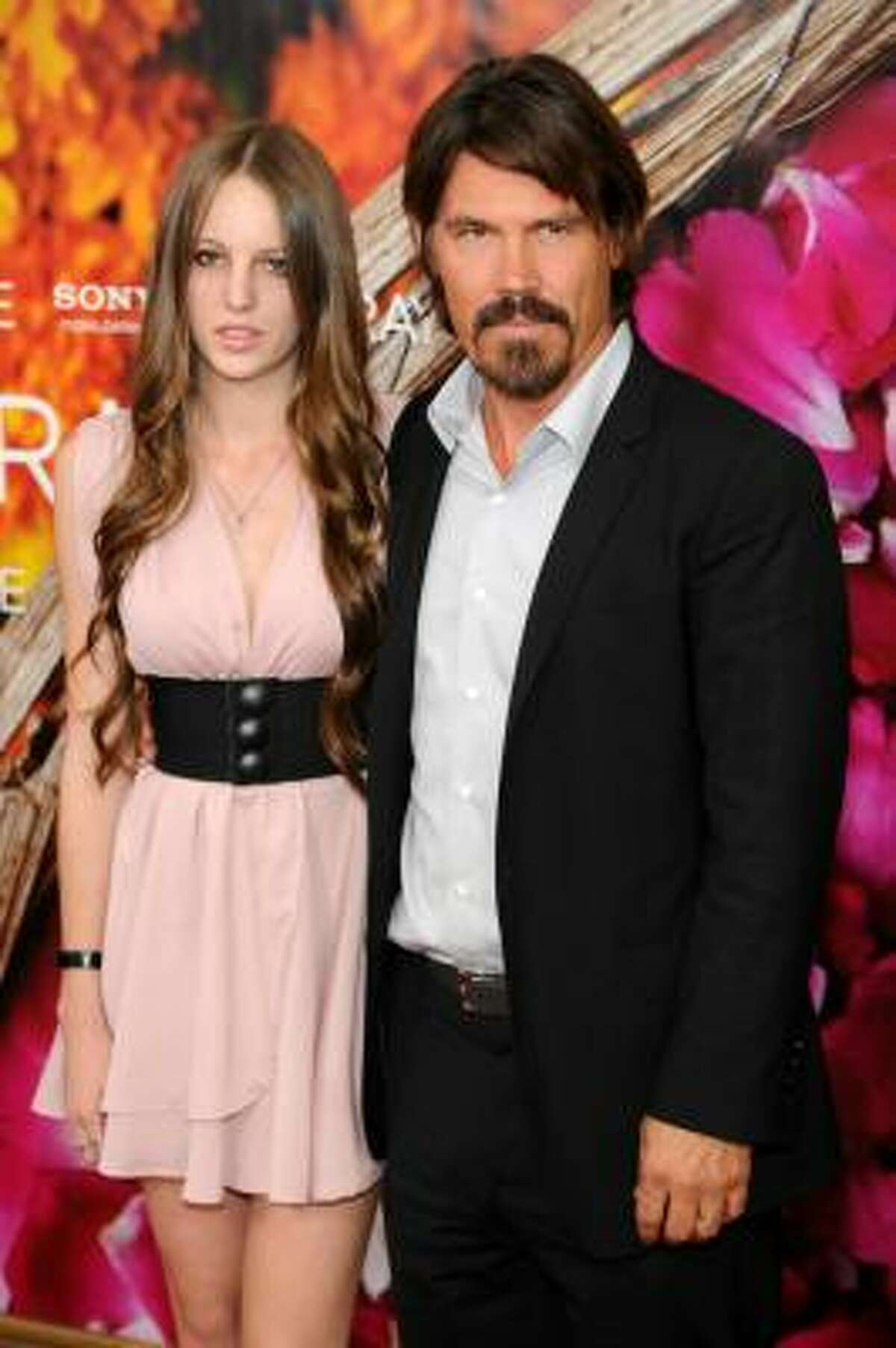 Actor Josh Brolin and Eleanor Lambert