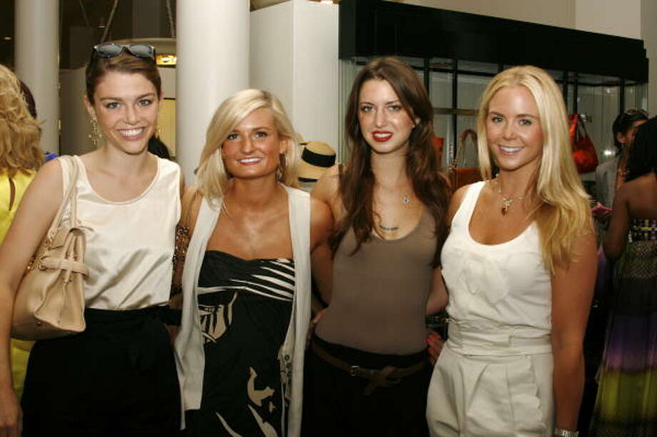 "Brittany Sakowitz, Jessica Ledger, Tamar Mendelssohn and Lauren Clark at a ""Couture and Cocktails"" event at Tootsies. Ten percent of the event's proceeds benefited Houston Grand Opera. Photo: Courtesy Photo"