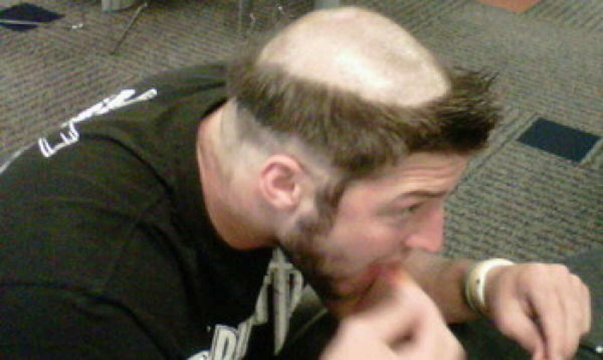 Denver Broncos rookie quarterback Tim Tebow got this haircut as part of the traditional rookie hazing.