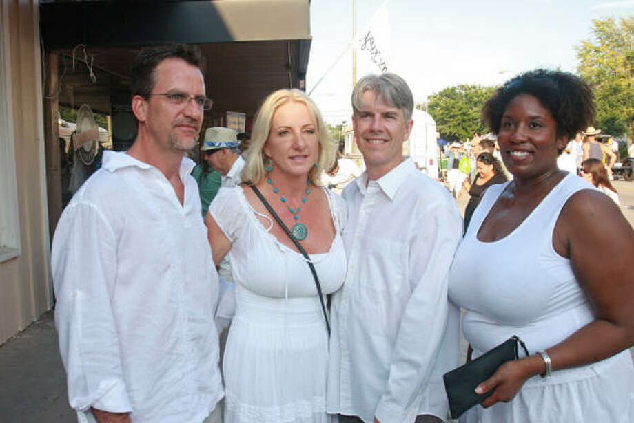 Barry and Sheila Cordray, from left, with Kevin and Cindi Andress Photo: Gary Fountain, For The Chronicle