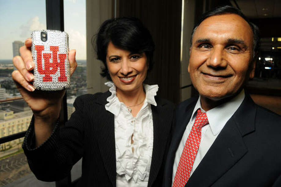 "University of Houston President Renu Khator and Suresh Khator at a reception at the Westin Galleria Hotel honoring the nominees for ""Think India, Think Houston,"" this year's Indo-American Chamber of Commerce of Greater Houston gala and awards ceremony. Photo: Dave Rossman, For The Chronicle"