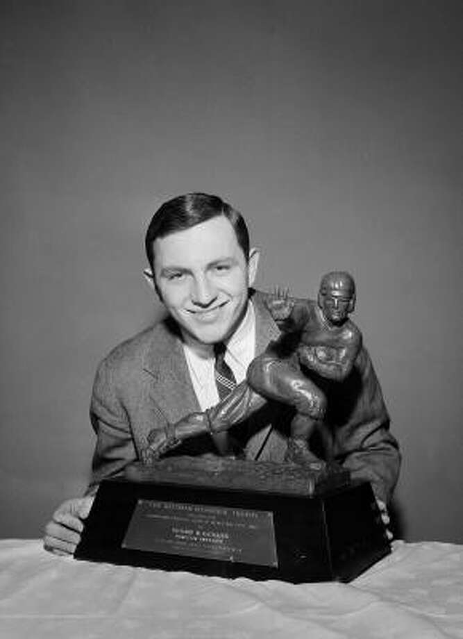 1951: Dick Kazmaier  School: Princeton  Position: Running back  Class: Senior  Photo: John Rooney, AP