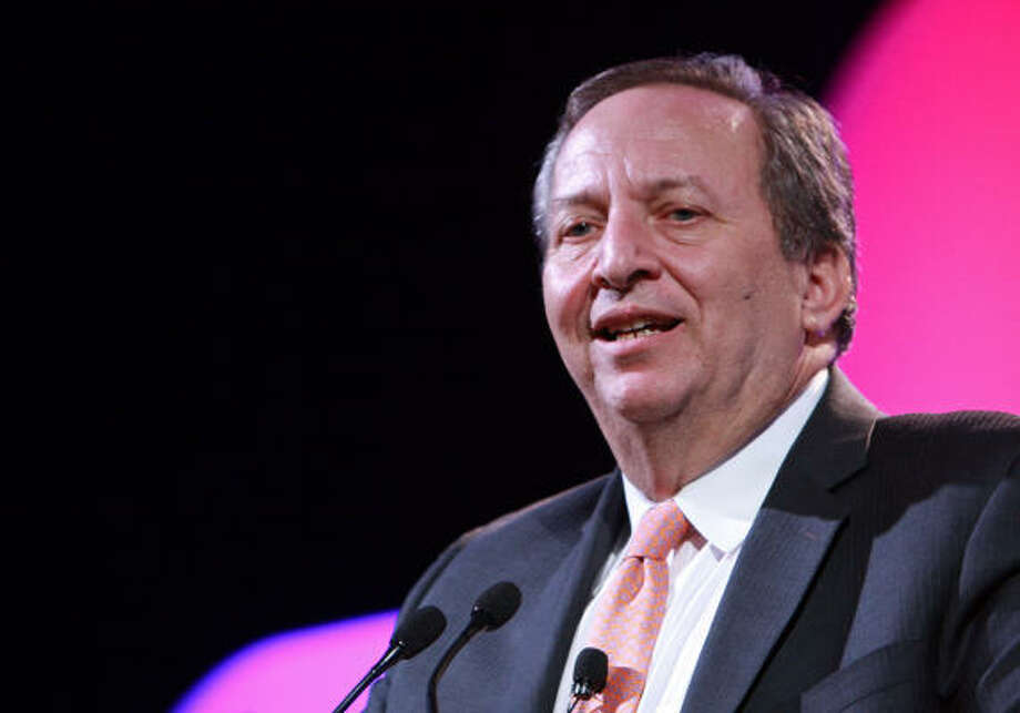 White House adviser Lawrence Summers acknowledged the role natural gas should play in future energy policy — a recurring CERAWeek theme. Photo: Gary Fountain:, For The Chronicle