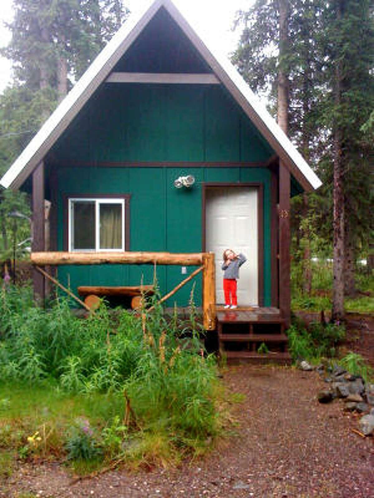 Our cabin near Denali. This photo was taken around 10 p.m.