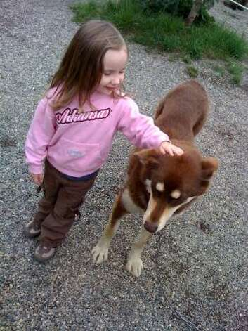Frankly, she liked the dogs more than anything else on the trip. Photo: Nicki Britton, Chronicle