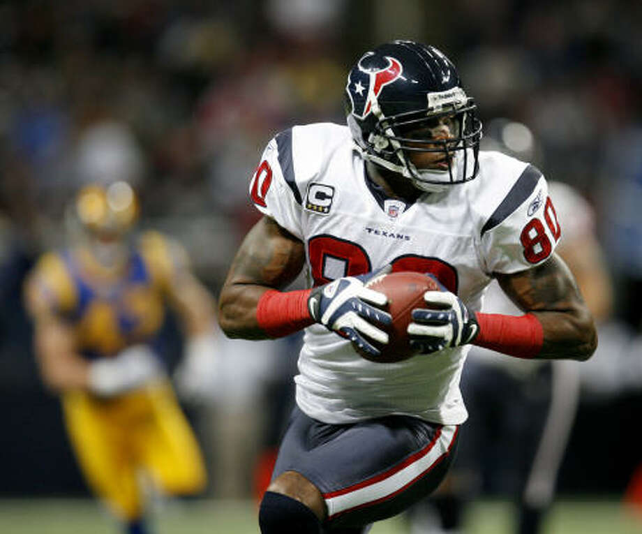 The Texans' Andre Johnson led the NFL with 1,569 yards receiving last season. Photo: Karen Warren, Chronicle