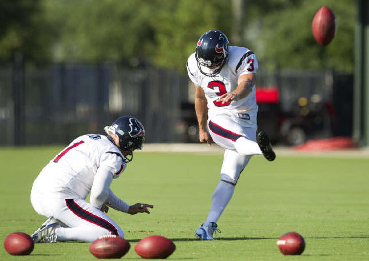 Texans kicker Kris Brown missed 11 field-goal attempts last season.