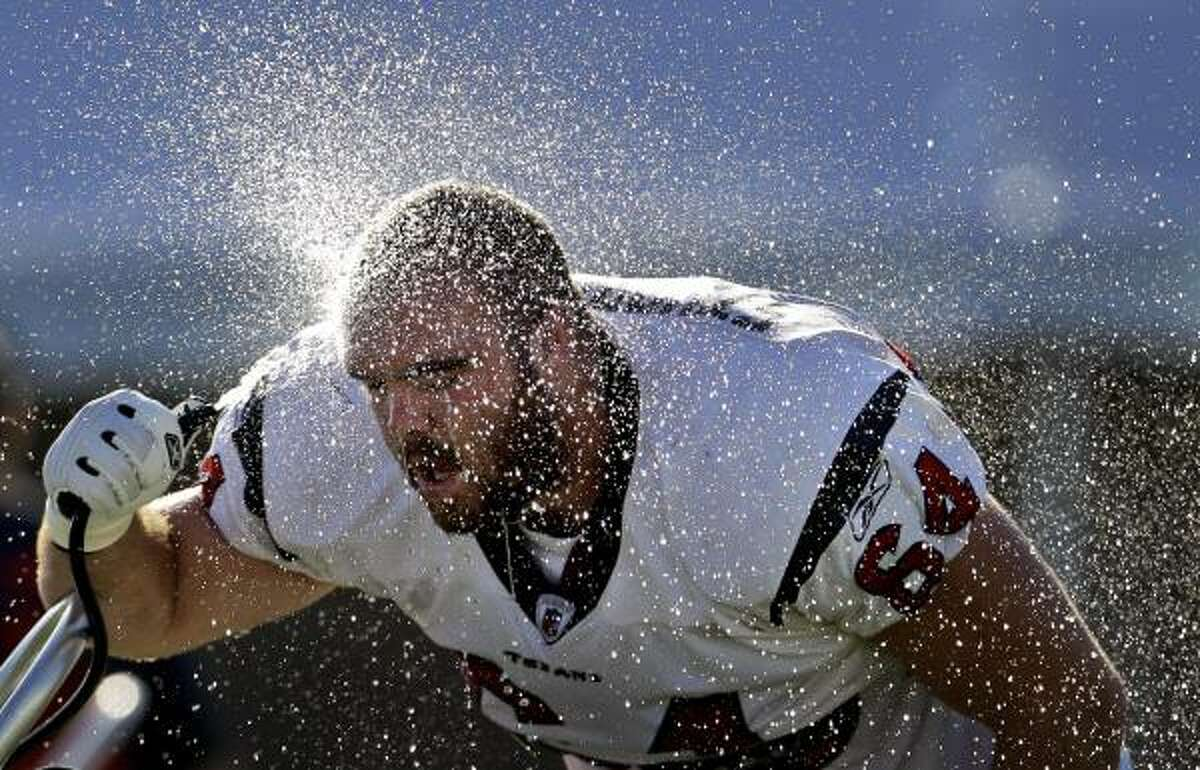 1. Houston Texans Location: Houston Average August high: 93 According to average August temperatures compiled by the National Weather Service from 1971-2000, Houston is without a doubt the hottest training camp location in the NFL.
