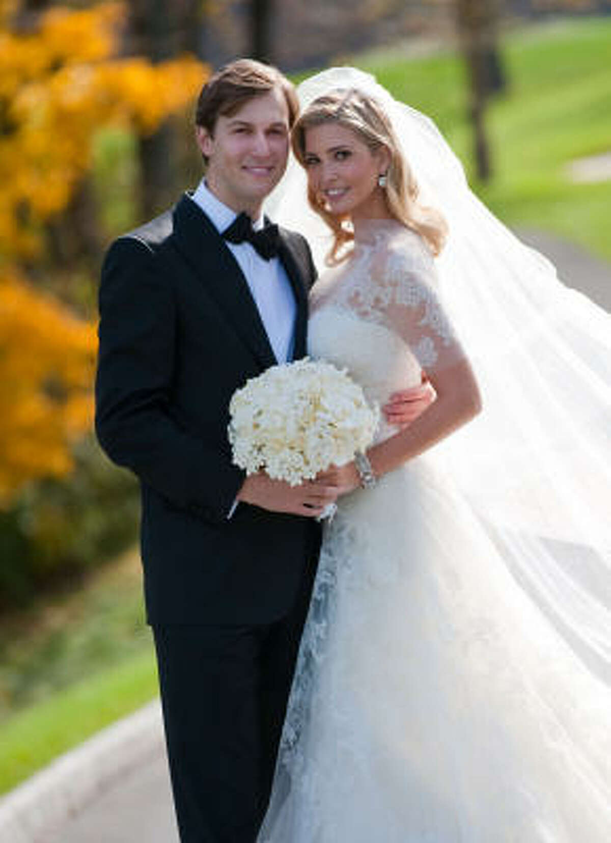 Donald Trump's daughter, Ivanka Trump, decided to use jewelry from her already extensive collection on her big day. Her wedding to Jared Kushner included a 13-layer cake that spanned 70-inches on the table.
