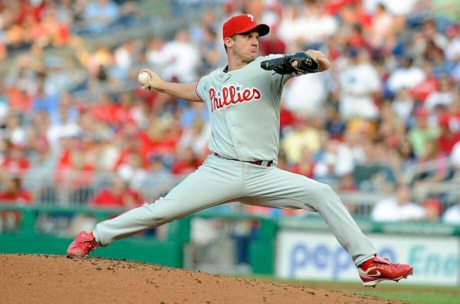 Roy Oswalt made a start for a team other than the Astros for the first time in his career. Photo: Greg Fiume, Getty Images