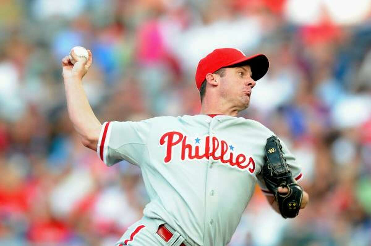 Roy Oswalt and the second-place Phillies faced the last-place Nationals in a matchup of NL East teams.