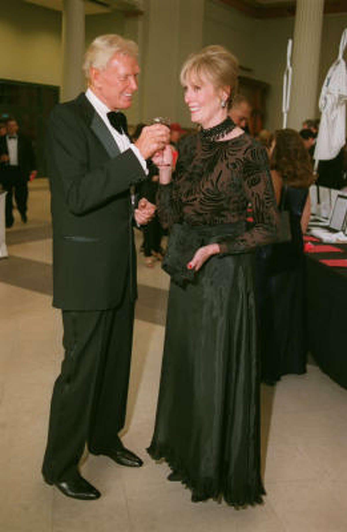 Robert von Hagge and his wife Gretta at the Astros Wives Gala Aug. 17,2000.