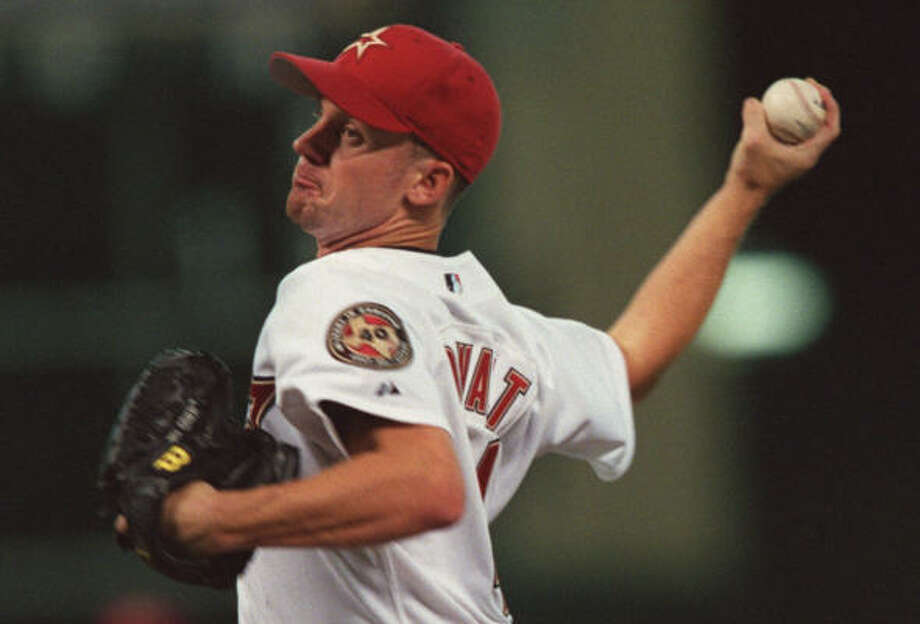 2001:Roy Oswalt, who was drafted by the Astros in the 23rd round of the 1996 amateur draft, was a hit during his rookie season, going 14-3 with a 2.73 ERA in 28 appearances (20 starts). Photo: Smiley N. Pool, Chronicle