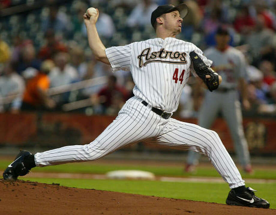 2004:Roy Oswalt reached the 20-win plateau for the first time in his career, going 20-10 with a 3.49 ERA to help lead the Astros to the National League Championship Series. He finished third in National League Cy Young Award voting. Photo: James Nielsen, Chronicle
