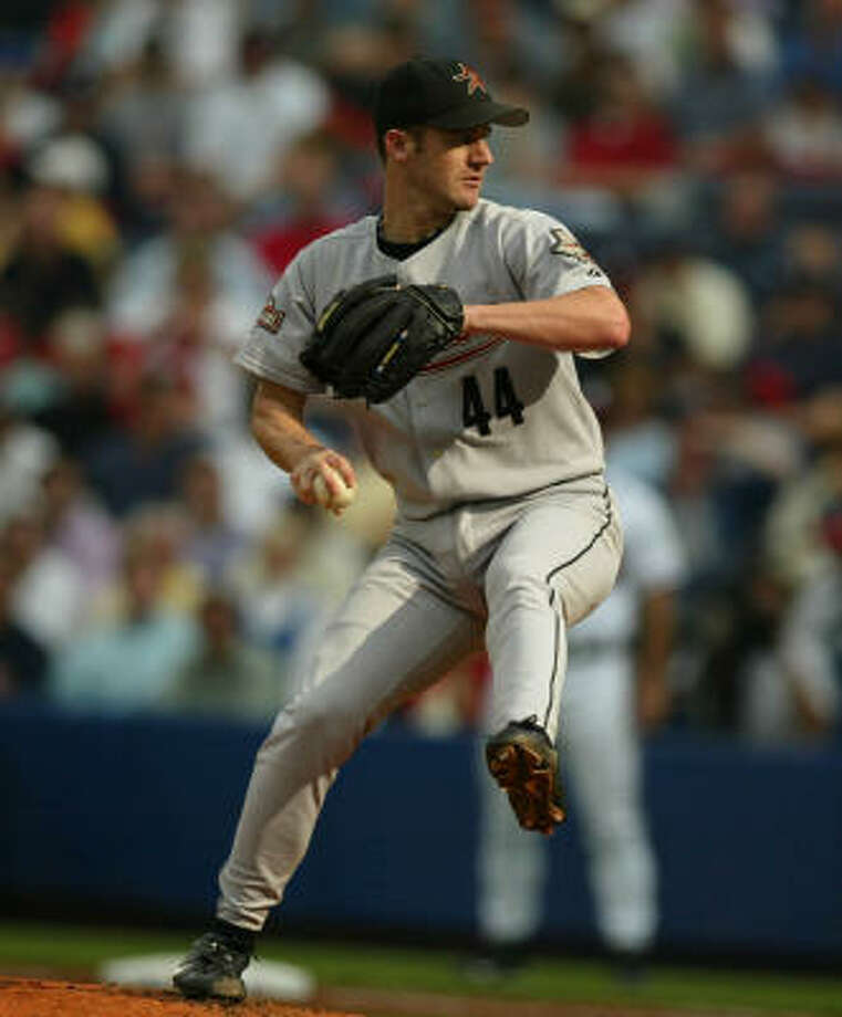 Roy Oswalt won Game 5 of the National League Division Series against Atlanta in 2004 - clinching the first playoff series in franchise history. Photo: Karen Warren, Chronicle