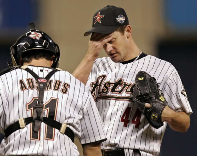 Roy Oswalt allowed five runs over six innings and picked up a no decision in the Astros' 7-5, 14-inn