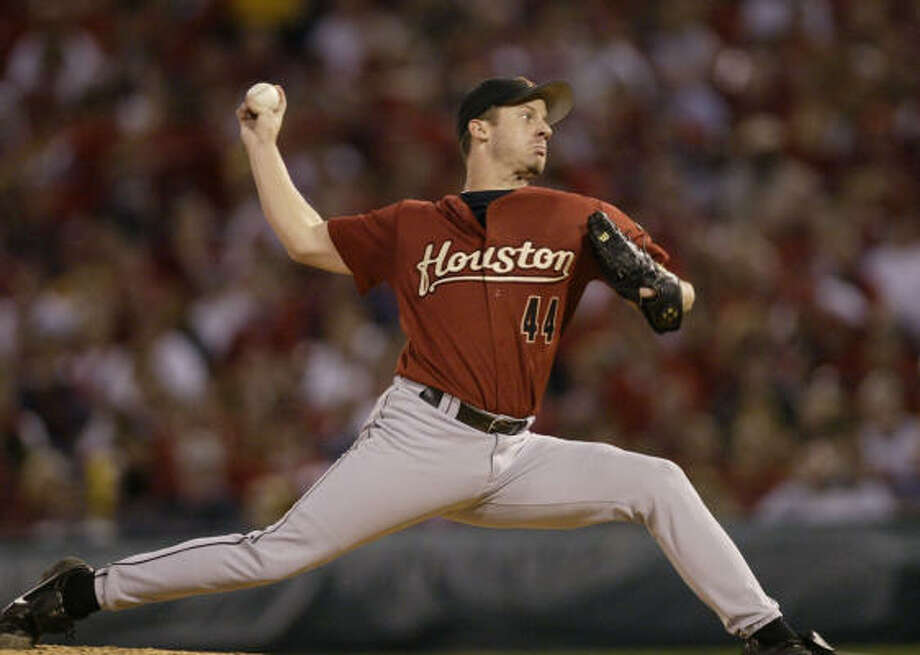 2006: Roy Oswalt went 15-8 with a 2.98 ERA and earned his second straight National League All-Star selection. On Aug. 29, the Astros signed him to a five-year, $73 million extension through the end of 2011 with an option for 2012. Photo: Karen Warren, CHRONICLE
