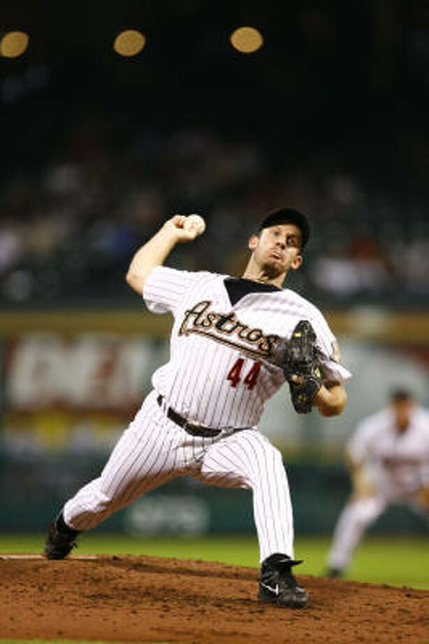 2007: Roy Oswalt finished the season 14-7 with a 3.18 ERA. He was named to his third straight National League All-Star team and earned his 100th career win against Philadelphia on April 13. Photo: Nick De La Torre, CHRONICLE