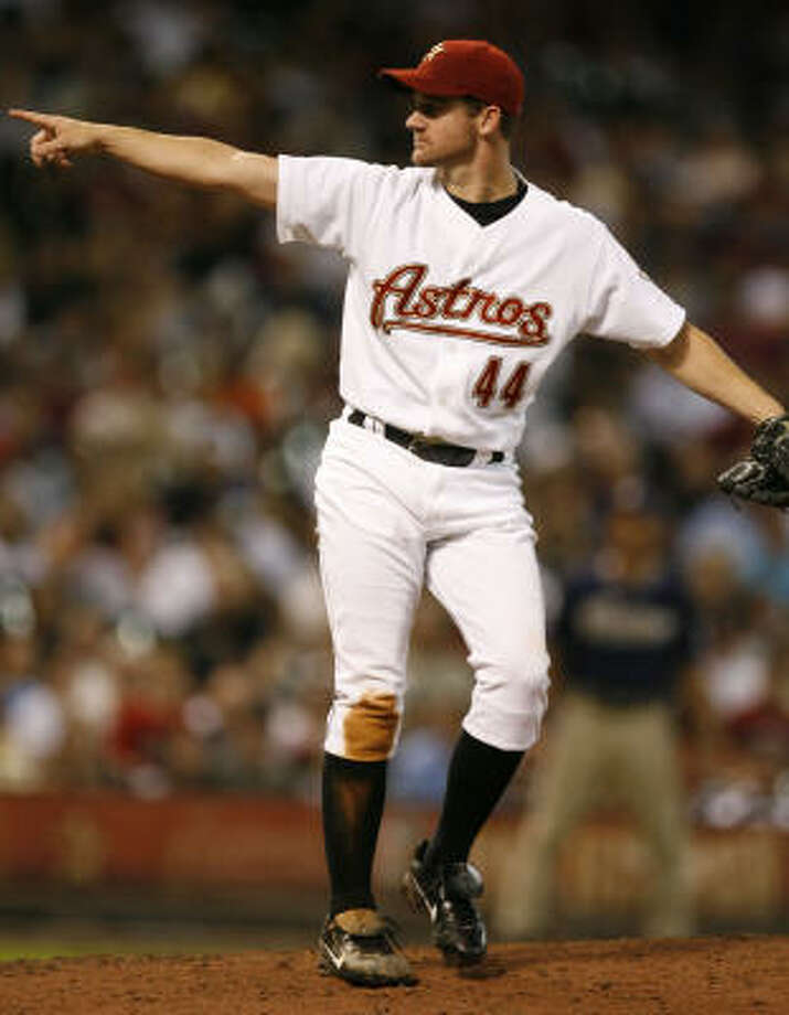 2008:Roy Oswalt rebounded from a rough start to finish the year 17-10 with a 3.54 ERA. Photo: James Nielsen, Chronicle