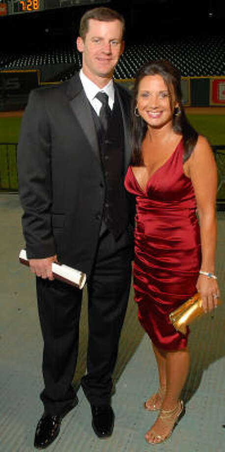 Roy Oswalt and wife Nicole attend the Astros Wives Gala at Minute Maid Park in 2008. Photo: Dave Rossman, For The Chronicle