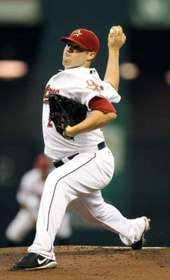 Astros starter Bud Norris allowed one unearned run in his six-inning start. Photo: Karen Warren, Chronicle