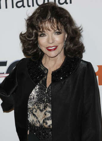 Joan Collins is in the five marriages club too. Photo: Matt Sayles, AP