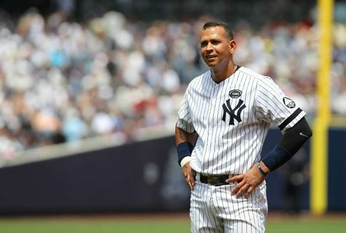 2. New York Yankees third baseman Alex Rodriguez
