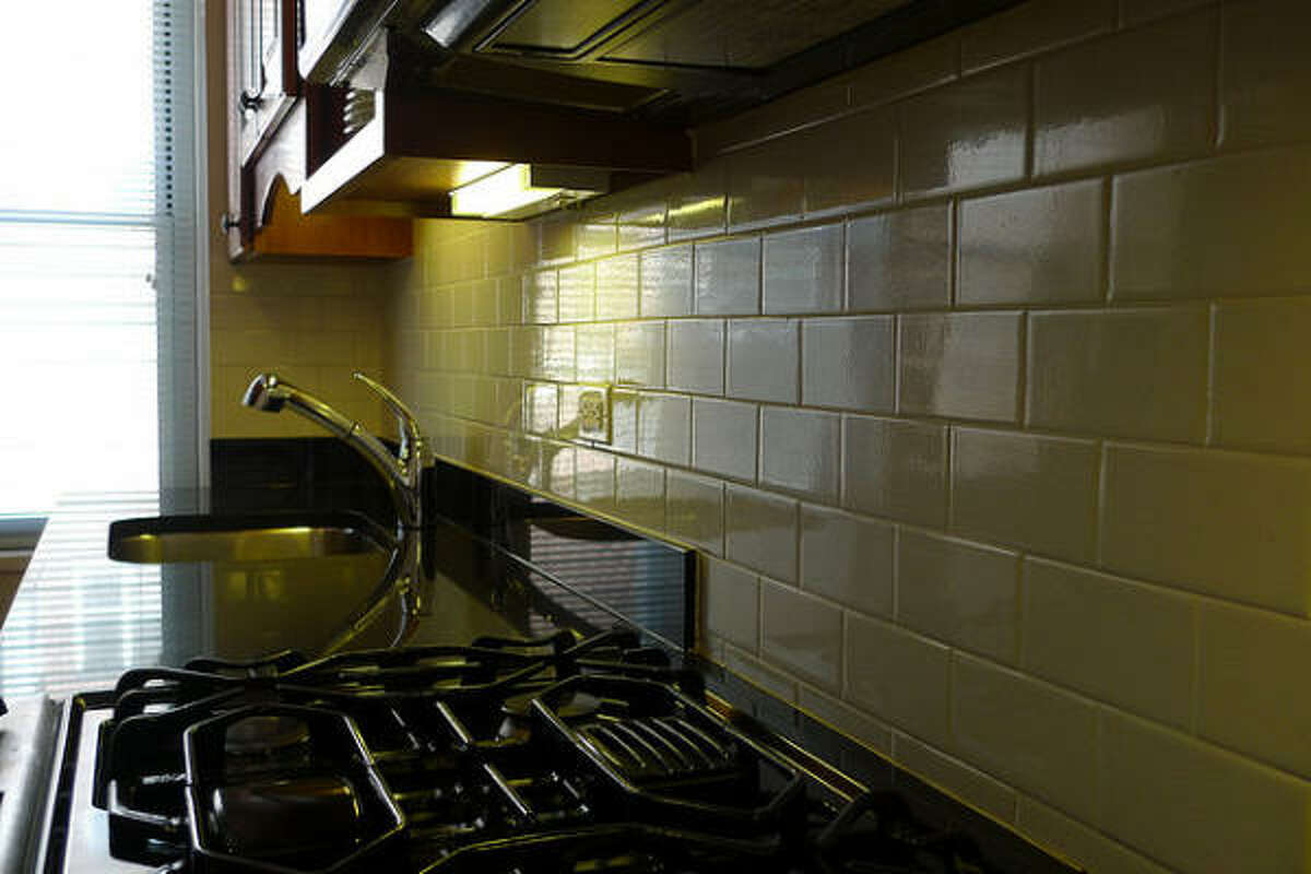 Standard subway tile gives this kitchen a classic look.