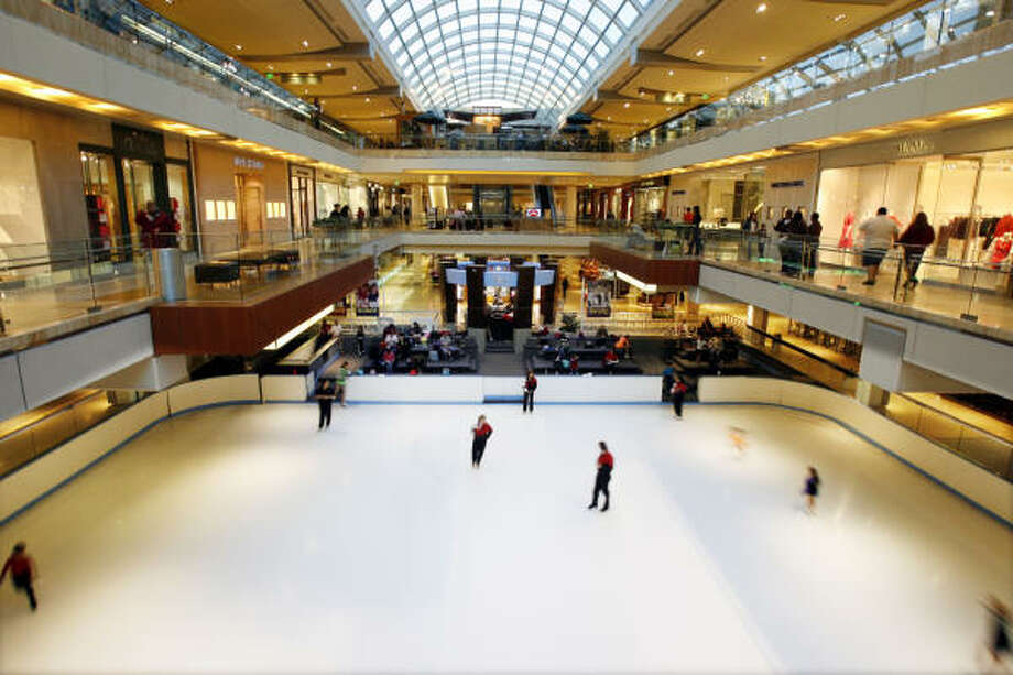 Go skating at the Houston Galleria rink in the midst of shopping in the mall. Admission and skate rental: $15 Photo: Billy Smith II:, Chronicle