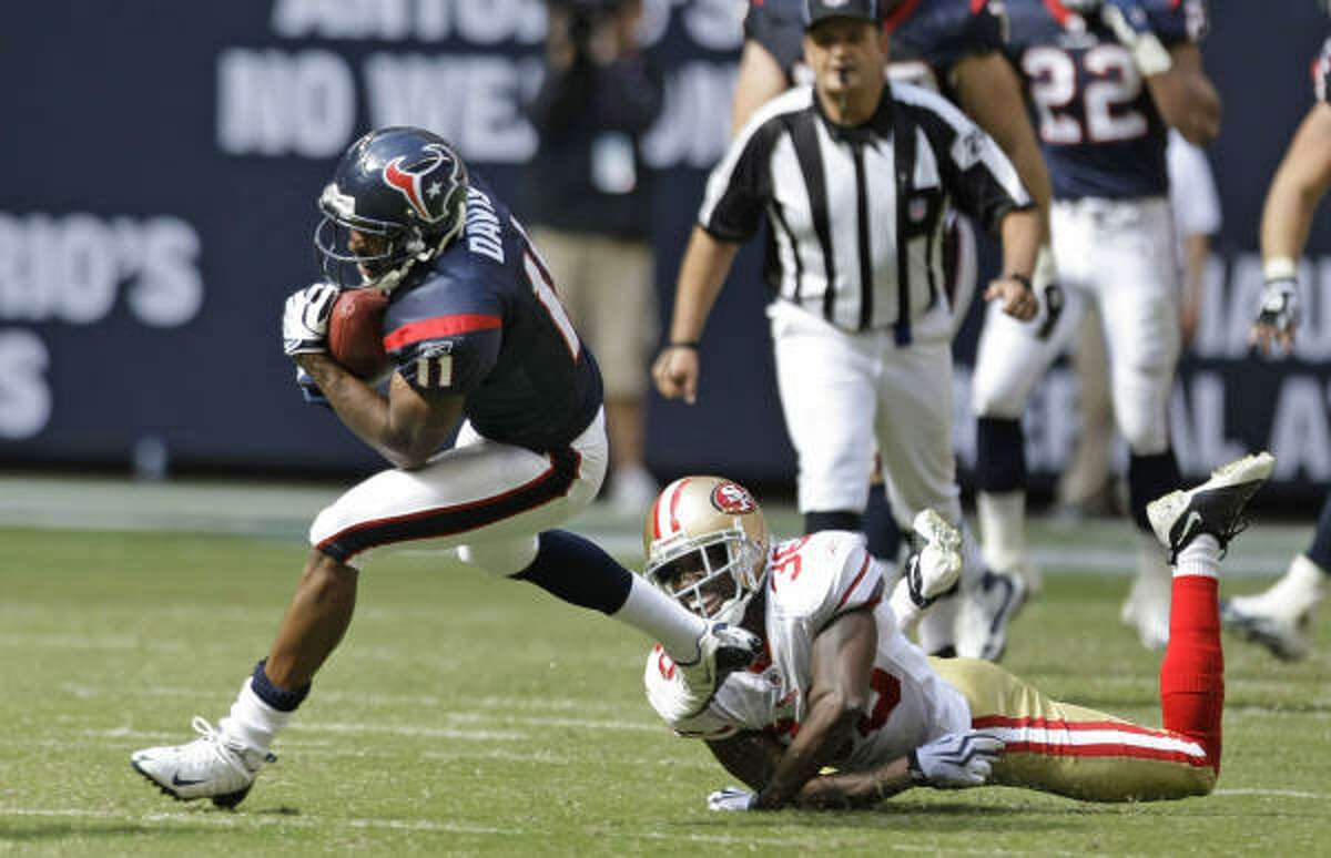 ON THE HOT SEAT Andre Davis, wide receiver: At 31, he had six catches and is scheduled to make $2.55 million.