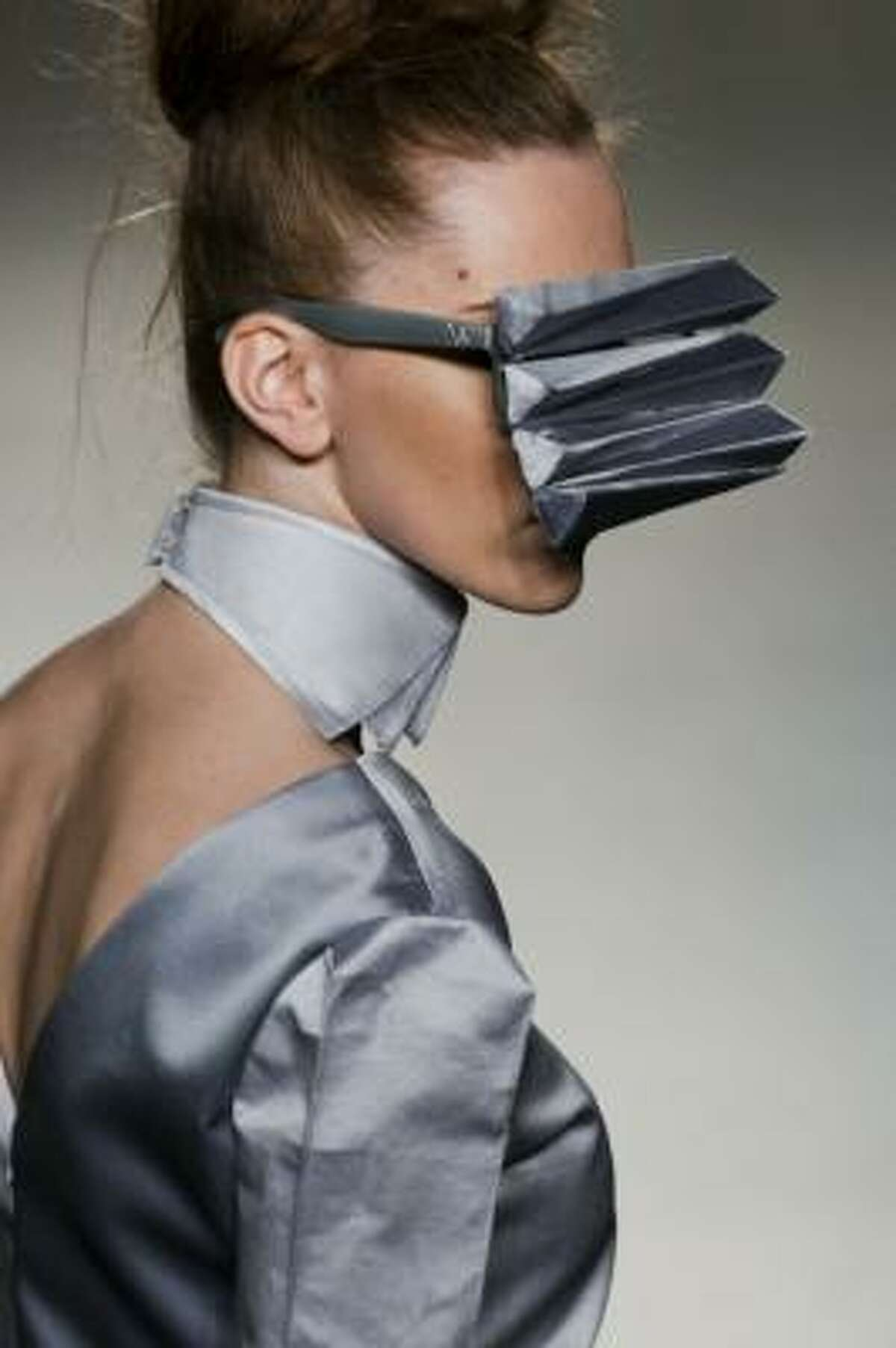 High fashion and impaired vision.