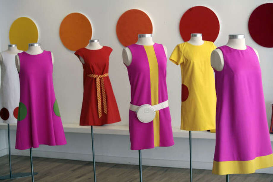 Perhaps the most striking step back into the '60s is in fashion. These dresses are very similar to the Mod fashions of the era. Photo: BEBETO MATTHEWS, AP