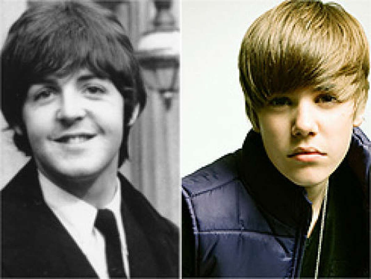 Justin Bieber's haircut has been done before. The Fab Four perfected the look long ago.