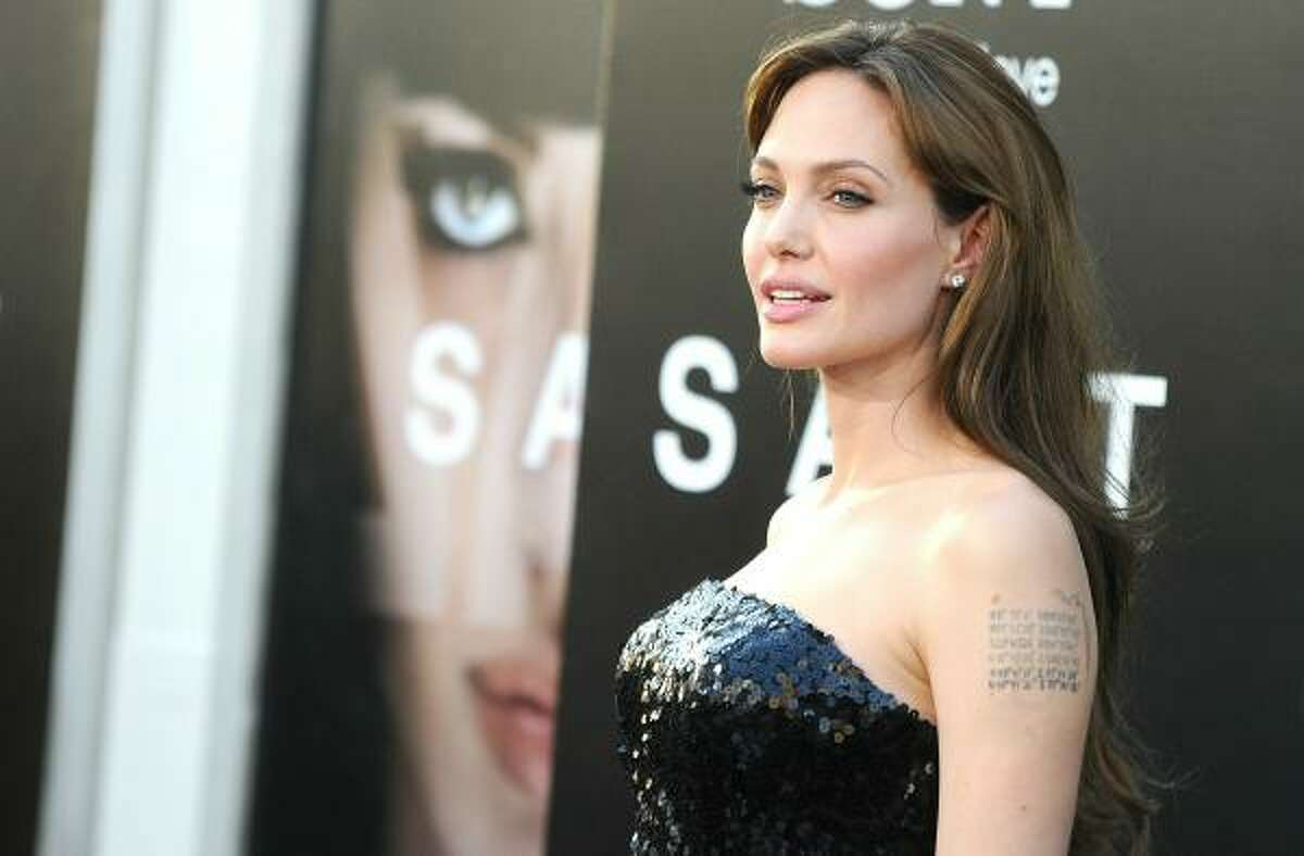 Leading star of the film Angelina Jolie arrives at the premiere of Sony Pictures'