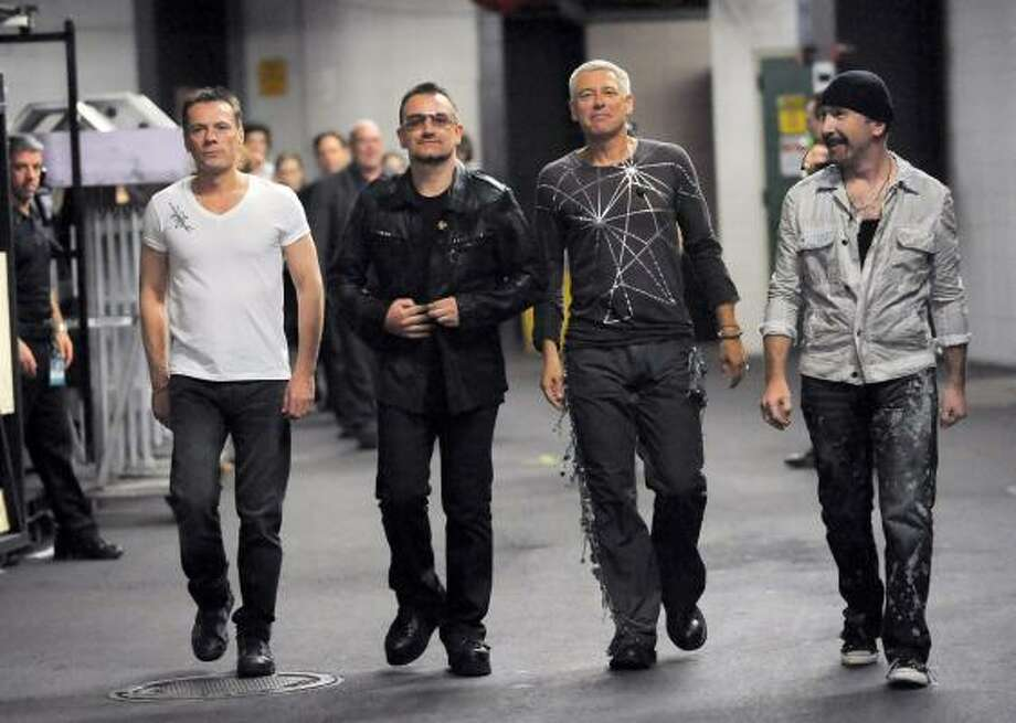 When you make as much money as U2 does, why would you stop touring?  Photo: Evan Agostini, AP