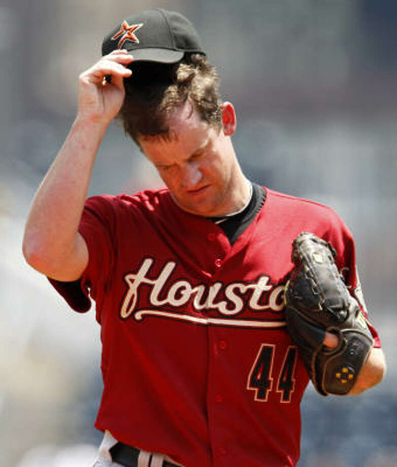 Roy Oswalt had just his third start of the season of fewer than six innings. Photo: Gene J. Puskar, AP